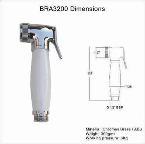 BRA3200: Shattaf Shower - Chrome & White