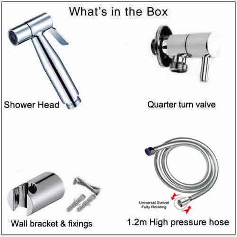 SST5000: Chromed High Pressure Bidet Shower