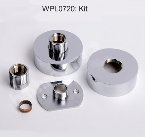 WPL0720:Round Bar Valve Easy Wall Fixing Kit