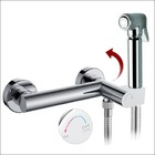 KIT6251: Controllable warm water bidet shower  kit with auto -prompt safety valve